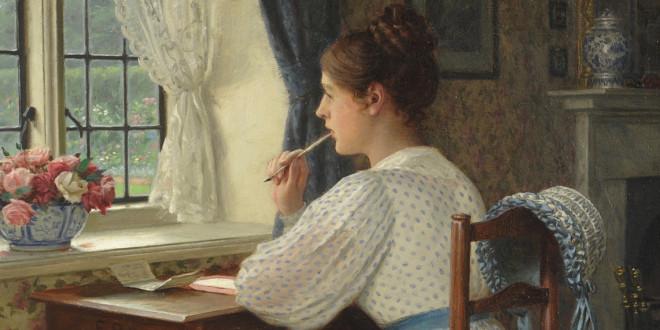 Edmund Blair Leighton - Donna che scrive